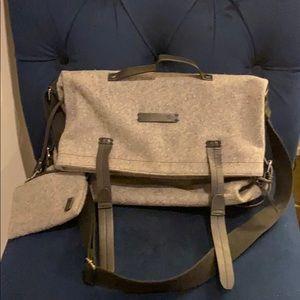 Grey wool crossbody bag Sherpani